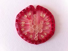 Quilled Paper Tomato Slice Home Decor Wall by ThePaperyCraftery