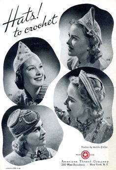 Hats! What lovely hats! Free crochet pattern if your fashion sense is daring enough.