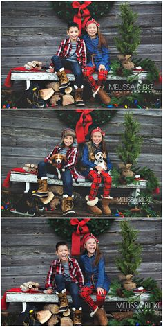 Fence along backyard. Use hay with a blanket to sit on. Christmas Pictures Outfits, Family Christmas Outfits, Christmas Photo Props, Xmas Photos, Family Christmas Pictures, Christmas Backdrops, Christmas Portraits, Christmas Mini Sessions, Christmas Minis