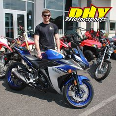 Congratulations to Nicholas from #MaysLanding #NJ on his purchase of this 2015 #Yamaha #YZFR3 Enjoy the world of Yamaha R-series superbike performance. Thank you for making your purchase at #DHYMotorsports #mynewride #dhynj