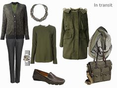 How to Pack for a Long Weekend: Olive and Grey