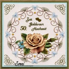 Sonni's cards Stübchen: For Golden Wedding Template A820 Decoupage APA3D005