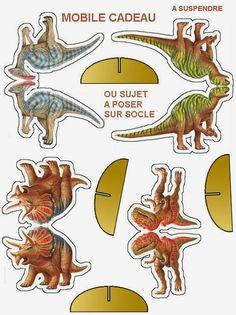 Dinosaurios para imprimir, pegar en cartulina, recortar... y disfrutar!