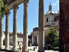 Milano_Roman ruins in porta ticinese. the columns date back to the II century