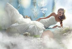 Disney inspired wedding dress, Ariel