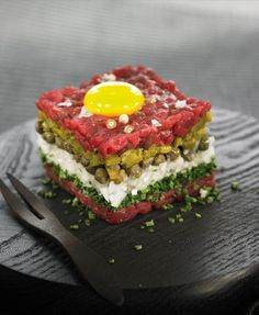 Steak tartare miam :) j'en veux !