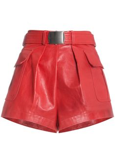 Shop Philosophy Di Lorenzo Serafini Red leather belted shorts from our Short Shorts collection. Belted Shorts, High Waisted Shorts, Bff, Trends, Fashion Stylist, Fashion Pictures, Red Leather, Ideias Fashion, Girl Fashion