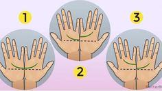 Zetknij brzegi swoich dłoni tak jak na rysunku poniżej. Dłonie muszą być ustawione równo, dokładnie na tej samej wysokości. Następnie zobacz, czy środkowe linie łączą się ze sobą. Ludzie zajmujący się wróżeniem z dłoni czyli chiromancją twierdzą, że to w pewien sposób wpływa na nasze życie i ks