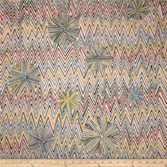 Alexander Henry Prairie House Barnsdall Brite Red from @fabricdotcom  Designed by DeLeon Design Group for Alexander Henry, this cotton print is perfect for quilting, apparel and home decor accents. Colors include red, blue, green, citron, and light peach.