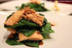 Profumo di cannella: Millefoglie di trota salmonata e spinaci freschi -...