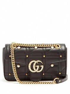 2b0f322161216e GUCCI Gg Marmont Embellished Quilted-Leather Bag. #gucci #bags #shoulder  bags