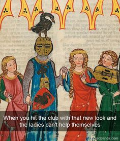 #medievalmemes #revivalclothing #medieval #medievalhumor Medieval Reactions, Medieval Memes, Medieval Art, Classical Art Memes, Art History Memes, History Facts, History Timeline, History Photos, Funny Art