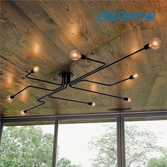 31.20$  Buy now - http://alijdi.worldwells.pw/go.php?t=32620344267 - Retro industrial loft Nordic pipe Wrought iron ceiling light lustre lamps for home decor restaurant dinning cafe bar room