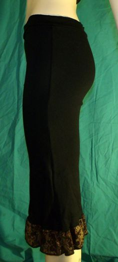 KMZ Gaucho in Organic Cotton Black size Small by KreativeMindz, $50.00
