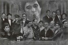 Professionally Framed Gangsters Collage Godfather Goodfellas Scarface Sopranos Movie Poster Print (Black and White)- with Solid Black Wood Frame: Framed Poster on Wide Black Frame Poster Collage, Movie Poster Art, Canvas Poster, Poster Prints, Collage Art, Poster Frames, Poster Poster, Poster Ideas, Art Posters