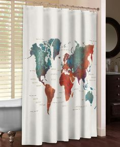 Colorful World Shower Curtain – Laural Home