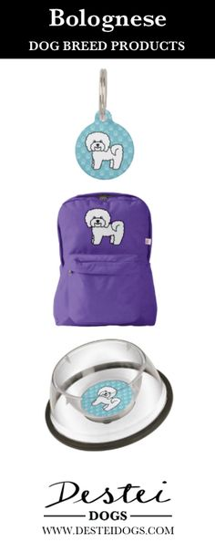 Cute Cartoon Bolognese Dog Breed Products By Destei Dogs #bolognese #doggifts #dogproducts #bichonbolognese #cartoondog #cutedog #desteidogs