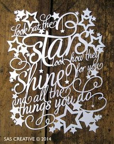 Look at the Stars Downloadable Papercut Template by SASCreative, £5.00
