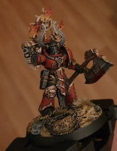 Master of Executions for my Red Corsairs Warhammer 40k Figures, Warhammer 40k Miniatures, Warhammer 40000, Chaos Legion, Chaos 40k, Dragon Warrior, Game Workshop, The Grim, Space Marine