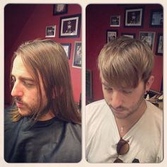 Before & After by @leighforsyth - drop all this long hair business fellas, sharpen your s**t up!!  #styling #photooftheday #hair #fade #classic #beer #instagood #vintage #retro #barber #hairstyle...