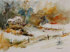 "Saatchi Art Artist Pol Ledent; Painting, ""watercolor 905061"" #art"