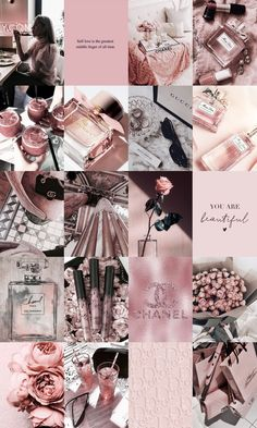 Rose Gold Aesthetic, Black And White Aesthetic, Black Aesthetic Wallpaper, Aesthetic Iphone Wallpaper, Bedroom Decor Grey Pink, Pink And Grey Wallpaper, Pink Photo, Pink Wall Art, Photo Wall Collage