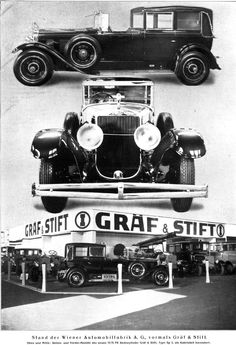 1930 Keibl Gräf & Stift SP5 1575 hp Six Lighyt Cabriolet de Ville Steyr, Rolls Royce, Vintage Cars, Antique Cars, Graf, Classic Cars, Automobile, Monster Trucks, Vehicles