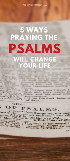 5 Ways Praying the Psalms Will Completely Change Your Life Praying the Psalms means talking to God about what comes to mind as you read through the Psalms. I believe the Book of Psalms is the best place in Scripture from which to pray Scripture. Prayer Scriptures, Bible Prayers, Faith Prayer, Faith In God, Bible Verses, Bible Psalms, Faith Walk, I Look To You, Just For You