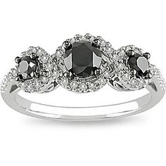 Black Diamonds    @Overstock - Click here for Ring Sizing Chart.Black and white diamond ringJewelry is crafted of 10-karat white goldhttp://www.overstock.com/Jewelry-Watches/10k-Gold-1ct-TDW-Black-and-White-Diamond-Ring-H-I-I2-I3/4509627/product.html?CID=214117 $333.99
