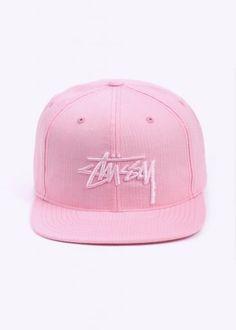 Stussy Stock Seersucker Snapback - Pink