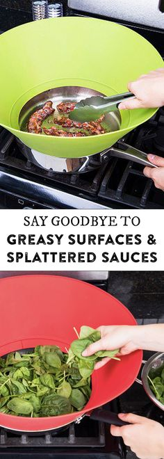 Keep fry spatter from spraying your stove, walls, and clothing. With this silicone guard, food goes from your pan to your plate. Great for cooking sauces and frying on the stovetop.