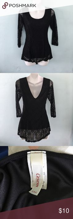 Black Blouse Size M Beautiful black blouse size M. Feel free to ask any questions. :) Tops Blouses