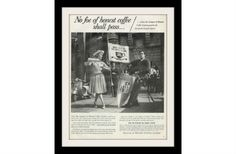 "1960 League of Honest Coffee Lovers Ad ""Castle"" Vintage Advertisement Print"
