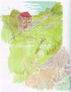 Art Models: 崖の上のポニョ / Ponyo (2008) - Background Design