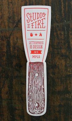 #studioonfire #letterpress #clean #simple