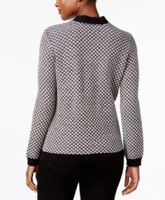 Karen Scott Metallic-Hardware Cotton Sweater, Created for Macy's - Tan/Beige XXL