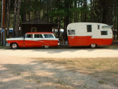 vintage camper/matching car!