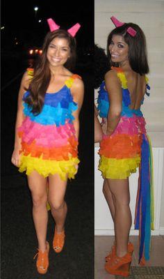 ¿Cómo hacerte un disfraz de piñata?Creative Halloween Costume #diy #halloween #costume