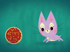 for some reason i think a cat chasing this rolling pizza is very amusing... from 20 Insanely Talented GIF Illustrators You Should Follow