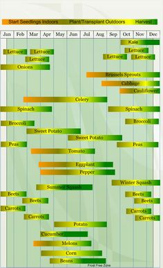 San Diego vegetable growing chart...