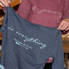 The Journey... Is Everything! How cute are these new hoodies from Archer and Cove?! In store or order online at www.TheMississippiGiftCompany.com/t-shirts-and-tee-shirts.aspx now!