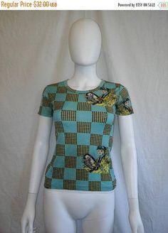 SALE 25% off SALE 70s 90s unique print top shirt driver  XS