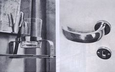 Helena Syrkus, Szymon Syrkus, details from the interior of Dr. N.'s house in Konstancin, near Warsaw, ca. 1932-1933, photo: reproduction of a drawing of a 'Wnętrze' magazine, 1933-1934