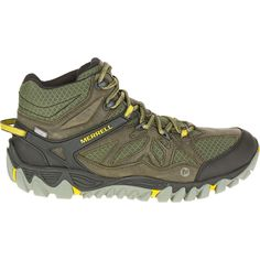 Merrell All Out Blaze Vent Mid Waterproof Olive Ankle Hiking Boots Shoes Size 11.5