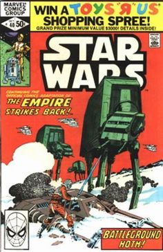 Marvel Comics Star Wars #40. With the chance to win a Toys R' Us shopping spree. Oh boy!