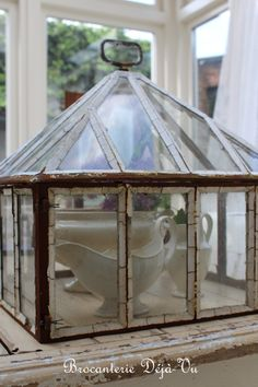 Victorian garden cloche. and for more daily inspiration and updates on all things vintage, please come and say hi at https://www.facebook.com/SilverandGreyLoveVintage