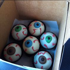 Eyeball cake balls for a few of my specialty eye doctors offices :) made by Creme de la Cookie in Snyder Plaza.