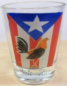 GALLITO W/PR FLAG SHOT GLASS.