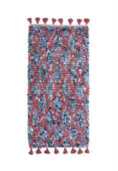 Products details - Textiel - denim kleed met rode lijnen
