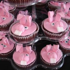 Pink Bunny Cupcakes...so cute!!!